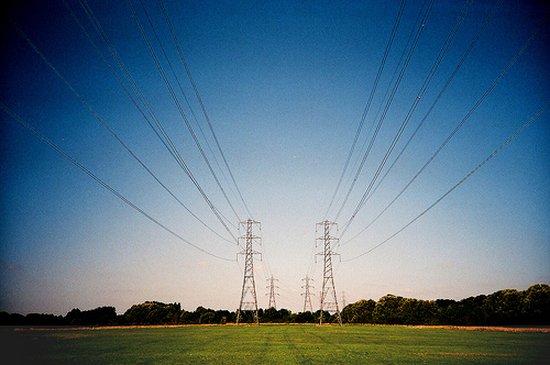 Power lines - atribution required
